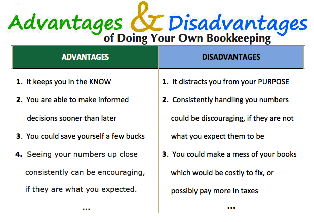 9e2e76bfa5c Advantages and Disadvantages of Doing Your Own Bookkeeping